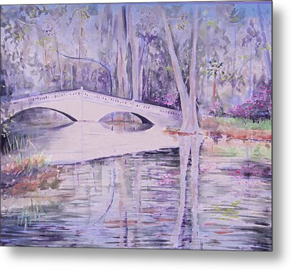 Bridge Of Magnolia Gardens Metal Print