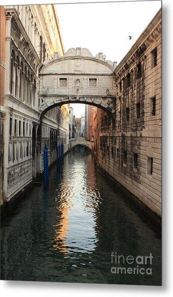 Bridge Of Sighs In Venice In Morning Light Metal Print by Michael Henderson