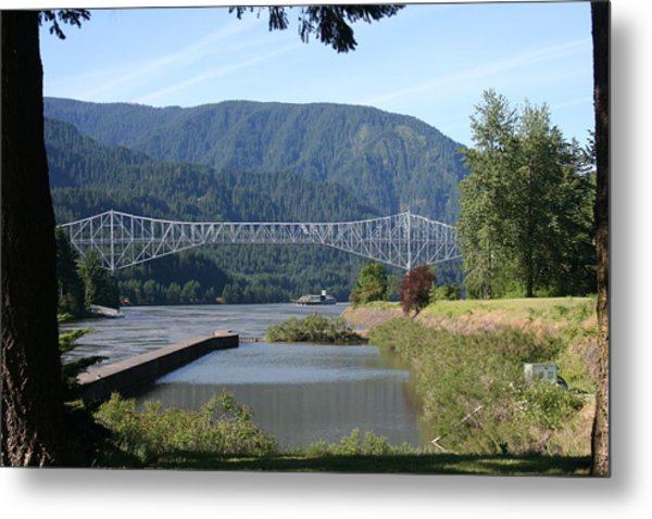 Bridge Of The Gods Br-4002 Metal Print by Mary Gaines