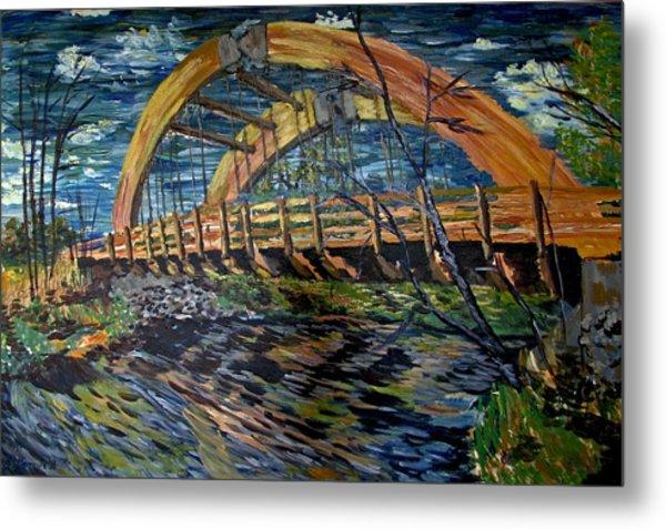 Bridge On County Rd. 27 Metal Print