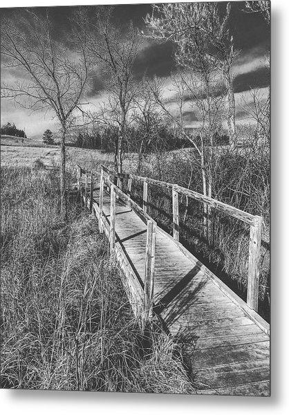 Bridge On The Prairie Metal Print