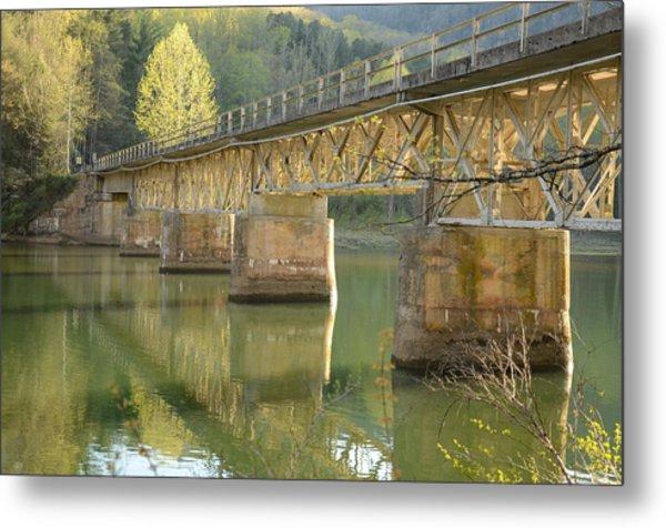Bridge Over Calm Water Metal Print