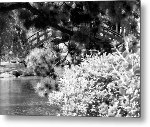 Bridge Over Calm Water Metal Print