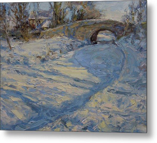 Bridge Over Lancaster Canal Metal Print by James Swanson