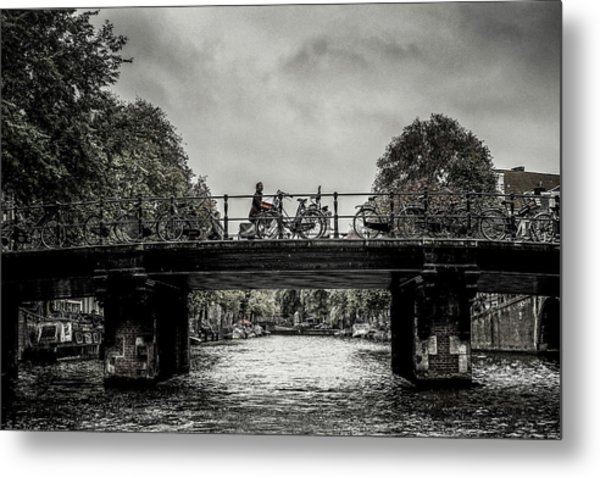 Bridge Over Still Water Metal Print