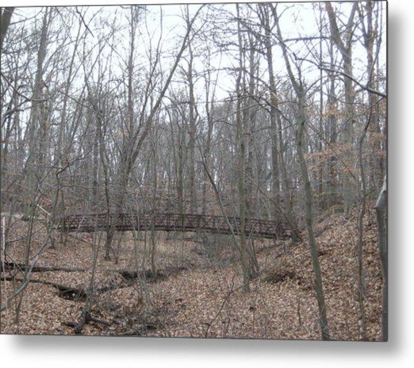 Bridge Over Stream Metal Print by Jennifer  Sweet