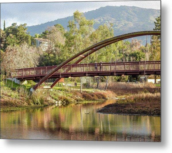 Bridge Over The Creek Metal Print