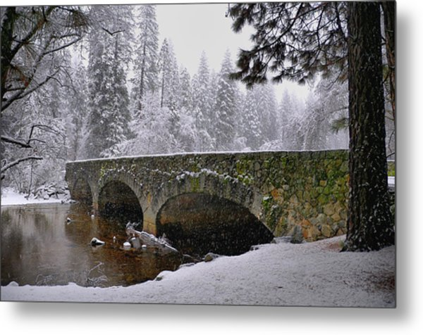 Bridge Over The Merced Metal Print by Frank Remar