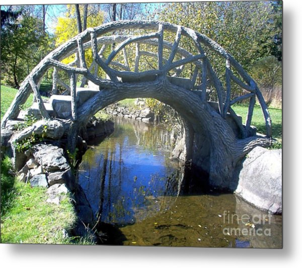 Bridge Park Metal Print by Emily Kelley