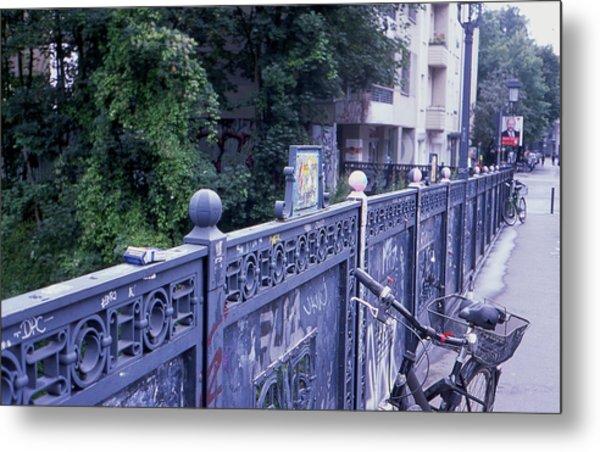 Bridge Railing Metal Print
