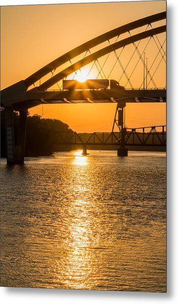 Bridge Sunrise 2 Metal Print