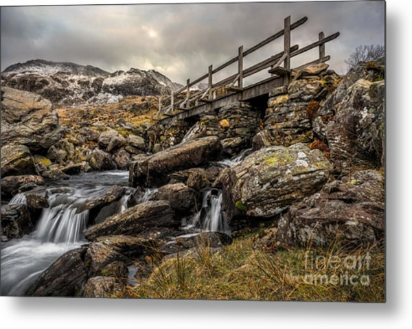 Bridge To Moutains Metal Print