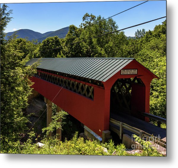 Bridge To The Mountains Metal Print