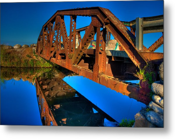 Bridge To Yesterday Metal Print by William Wetmore