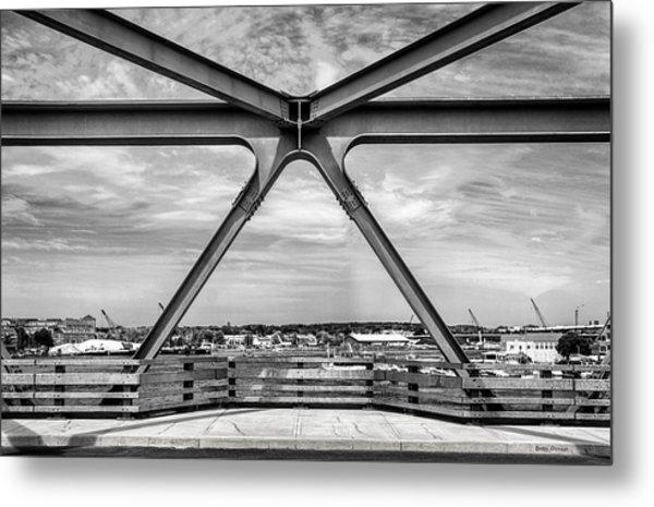 Bridge View In Portsmouth Nh Metal Print
