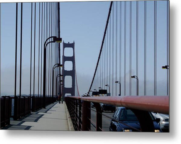 Bridge Walk Metal Print by Sonja Anderson