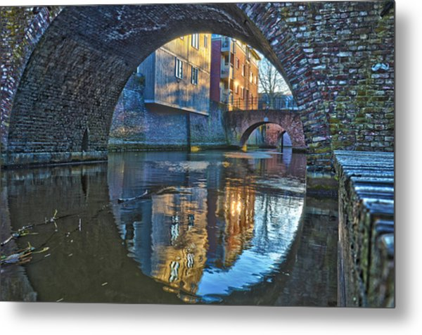 Bridges Across Binnendieze In Den Bosch Metal Print