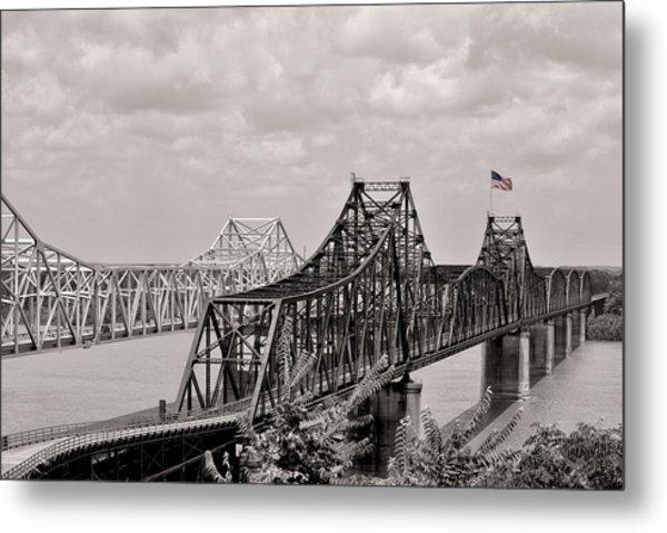 Bridges At Vicksburg Mississippi Metal Print