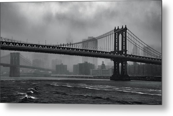 Bridges In The Storm Metal Print