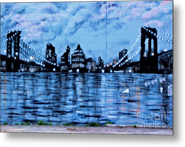 Bridges To New York Metal Print