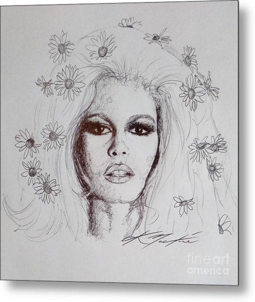 Bridget Bardot Metal Print