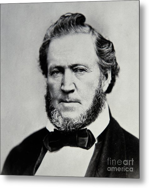 Brigham Young  Second President Of The Mormon Church Metal Print