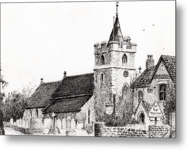 Brighstone Church Metal Print