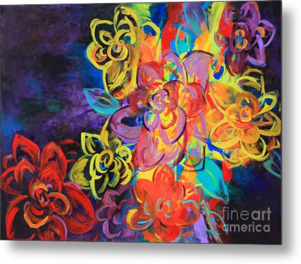 Bright Flowers Metal Print by Sabra Chili