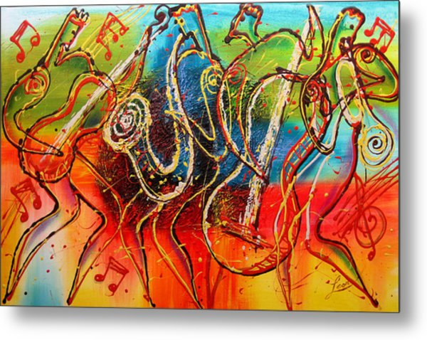 Bright Jazz Metal Print