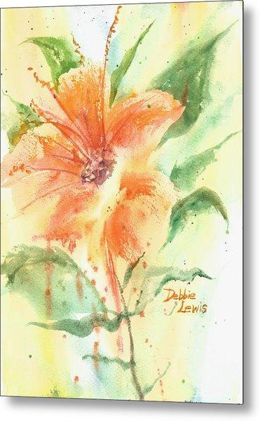 Bright Orange Flower Metal Print