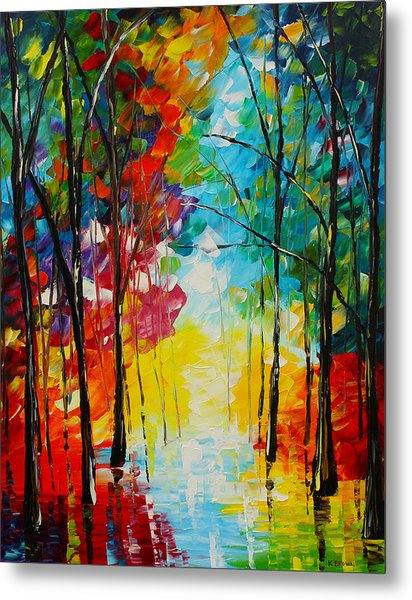 Metal Print featuring the painting Bright Path by Kevin  Brown