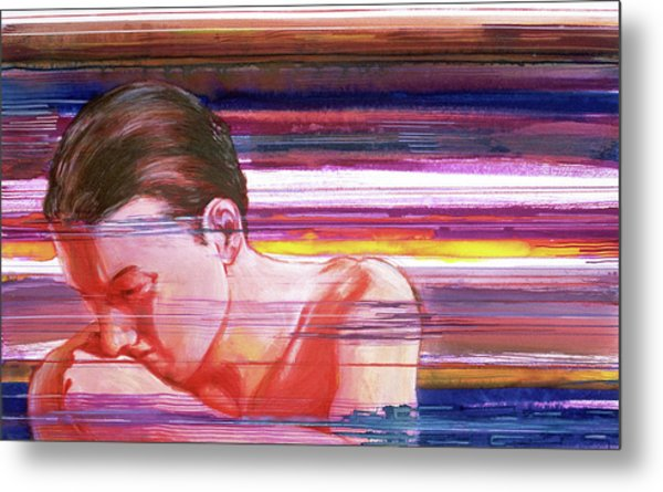 Metal Print featuring the painting Bright Silence by Rene Capone