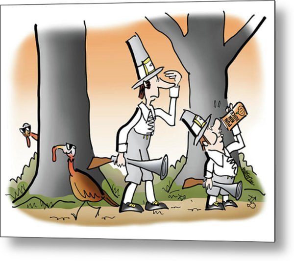 Metal Print featuring the digital art Bright Thanksgiving by Mark Armstrong