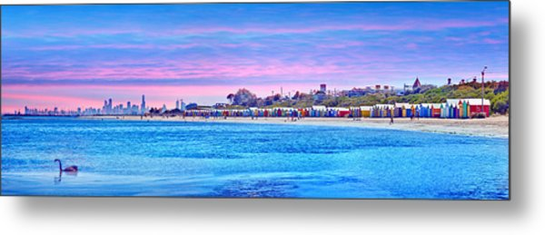 Brighton Beach Sunset Metal Print by Az Jackson