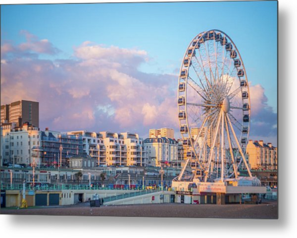 Brighton Ferris Wheel Metal Print