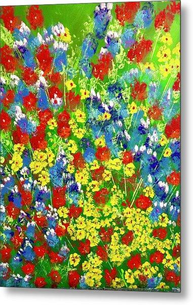Brilliant Florals Metal Print