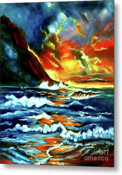 Brilliant Hawaiian Sunset Metal Print