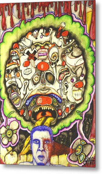 Bring Out The Clowns Metal Print by Sam Hane