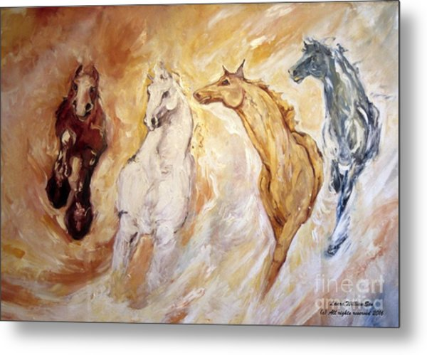 Bringers Of The Dawn Section Of Mural Metal Print