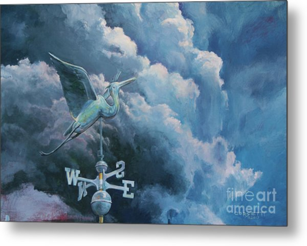 Bringing The Storm Metal Print