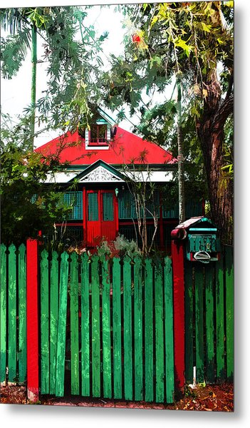 Brisbane Queenslander Metal Print