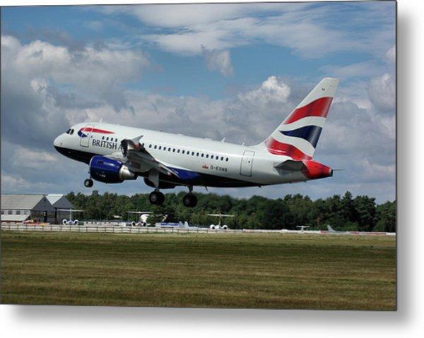 British Airways Airbus A318-112 G-eunb Metal Print