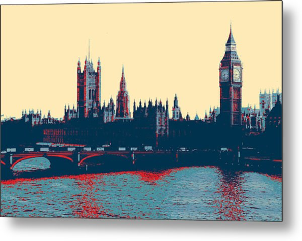 British Parliament Metal Print