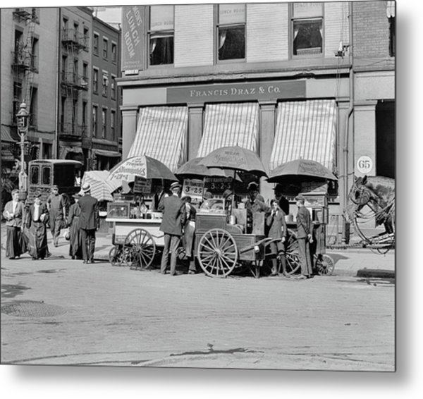 Broad St. Lunch Carts New York Metal Print