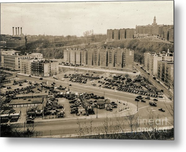 Broadway And Nagle Ave 1936 Metal Print