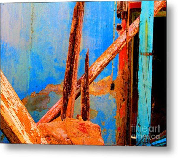 Broken Beams By Michael Fitzpatrick Metal Print by Mexicolors Art Photography
