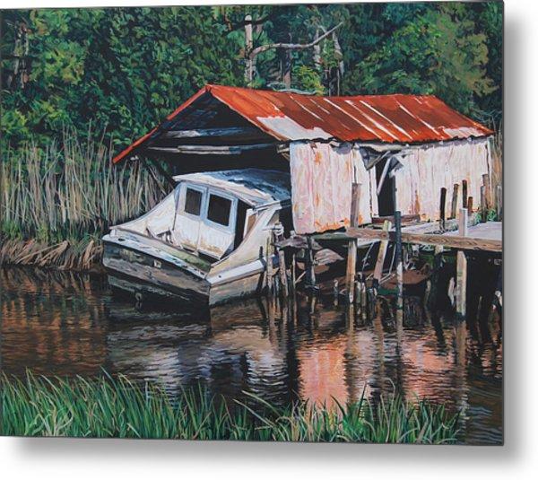 Broken Boat Metal Print