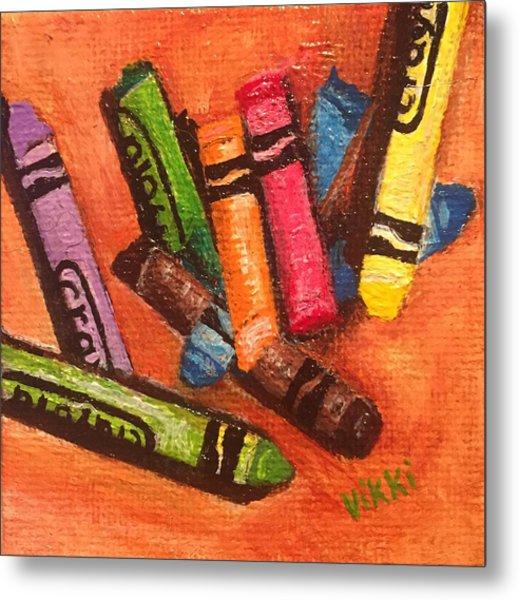 Broken Crayons Metal Print