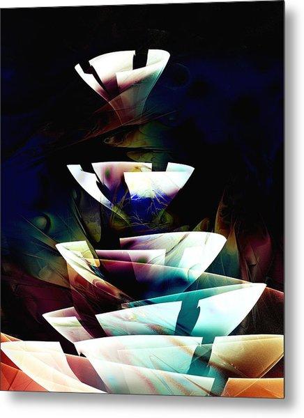 Broken Glass Metal Print