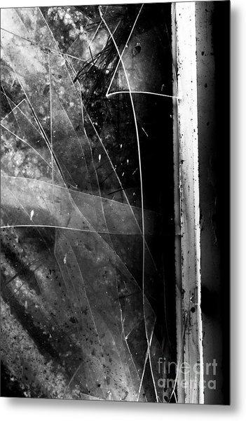 Broken Glass Window Metal Print